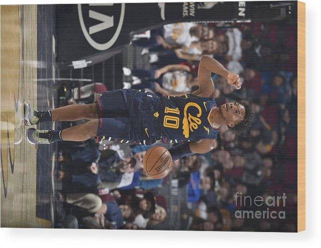 Nba Pro Basketball Wood Print featuring the photograph Orlando Magic V Cleveland Cavaliers by David Liam Kyle