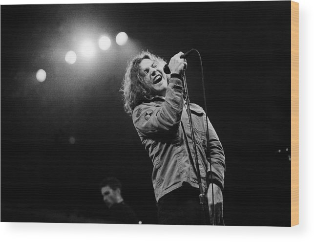 Singer Wood Print featuring the photograph Paul Natkin Archive by Paul Natkin