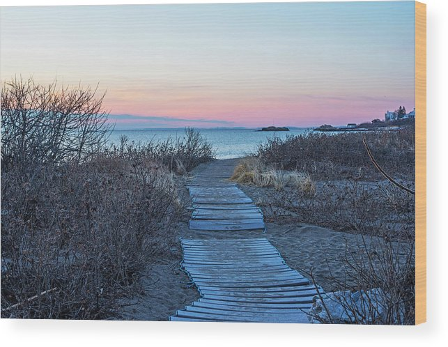 Phillips Beach Walkway at Sunrise Swampscott MA by Toby McGuire