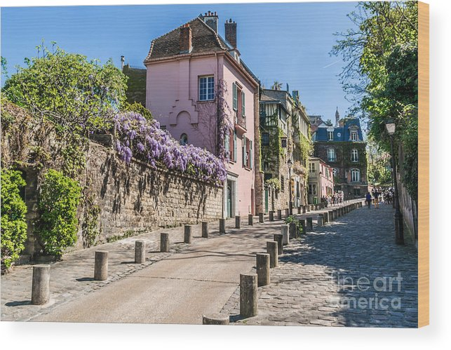 Capital Wood Print featuring the photograph Picturesque House On The Montmartre by Kiev.victor