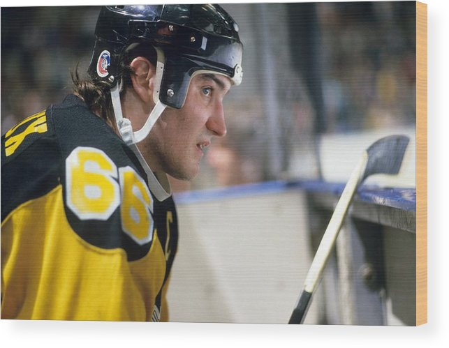 Geographical Locations Wood Print featuring the photograph Pittsburgh Penguins - Mario Lemieux by B Bennett