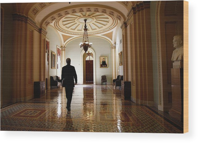Chairperson Wood Print featuring the photograph Political Battle For Health Care Reform by John Moore