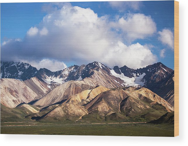 Tranquility Wood Print featuring the photograph Polychrome Overlook View by Daniel A. Leifheit