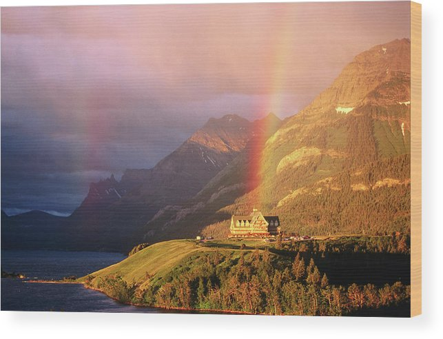 Scenics Wood Print featuring the photograph Prince Of Wales Hotel, At The End Of A by John Elk