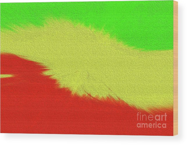 Art Print Wood Print featuring the digital art Rasta Sensation 2 by Kenneth Montgomery