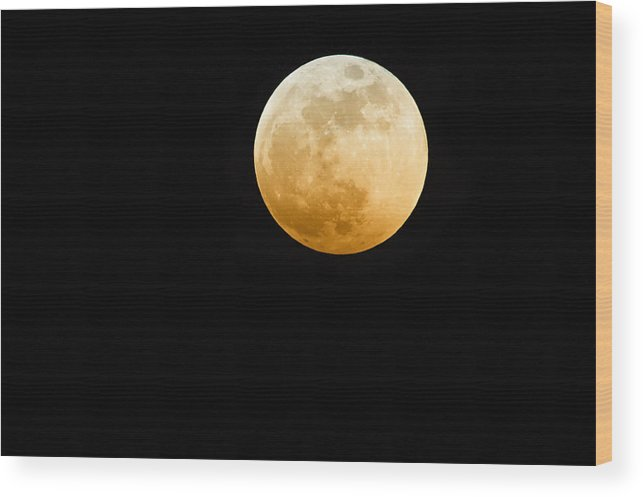 Shadow Wood Print featuring the photograph Red Moon by Stevedangers