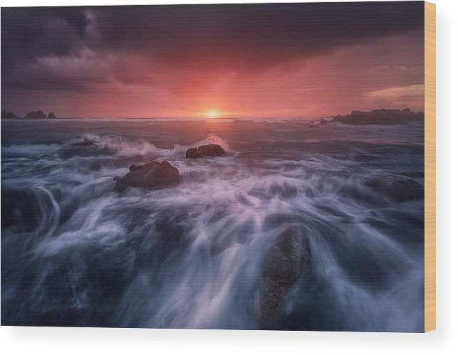 Sea Wood Print featuring the photograph Reira by Carlos F. Turienzo