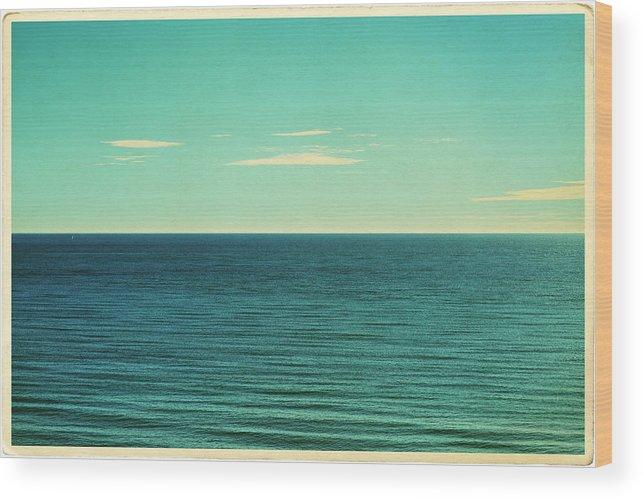 Scenics Wood Print featuring the photograph Retro Seascape Postcard by Farukulay
