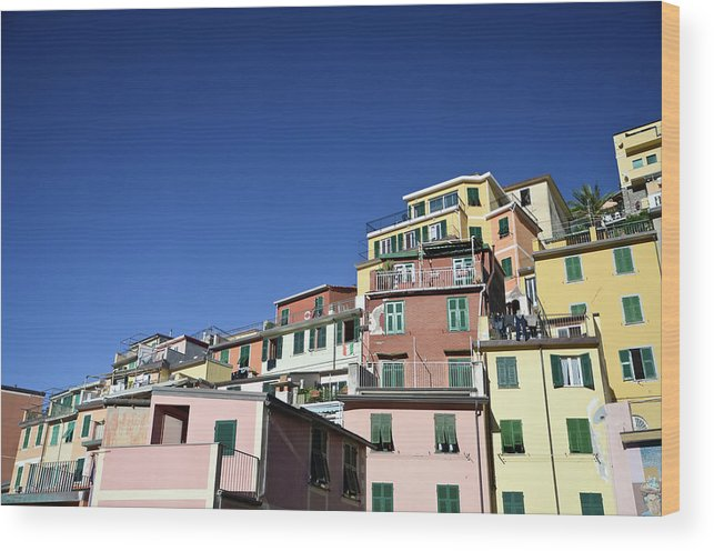 Empty Wood Print featuring the photograph Riomaggiore by Eduleite