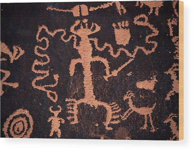 Outdoors Wood Print featuring the photograph Rock Art by Mark Newman