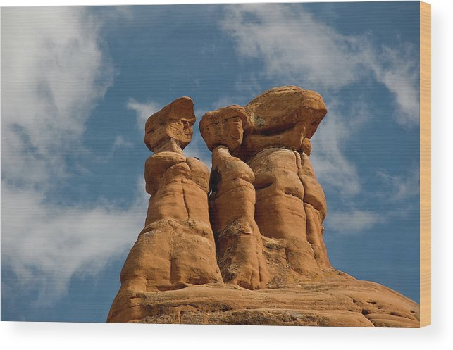 Geology Wood Print featuring the photograph Rock Formation In Arches National Park by Amateur Photographer, Still Learning...