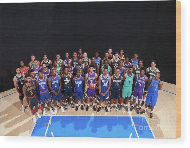 Nba Pro Basketball Wood Print featuring the photograph Rookie Photo Shoot 2017 by Joe Murphy
