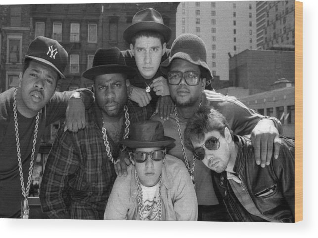 1980-1989 Wood Print featuring the photograph Run-dmc & Beastie Boys by New York Daily News Archive