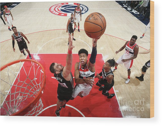 Nba Pro Basketball Wood Print featuring the photograph Sacramento Kings V Washington Wizards by Stephen Gosling