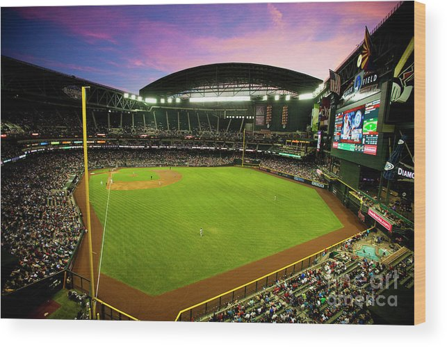 Arizona Wood Print featuring the photograph San Francisco Giants V Arizona by Jon Willey
