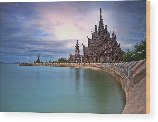 Tranquility Wood Print featuring the photograph Sanctuary Of Truth by Nutexzles