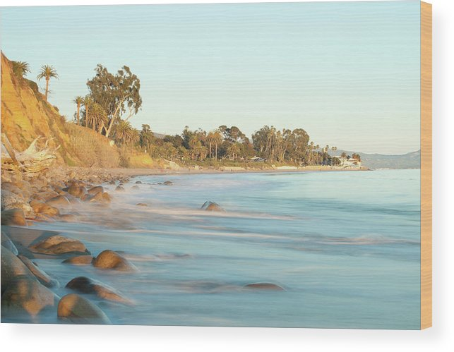 Water's Edge Wood Print featuring the photograph Santa Barbara by Andrewhelwich