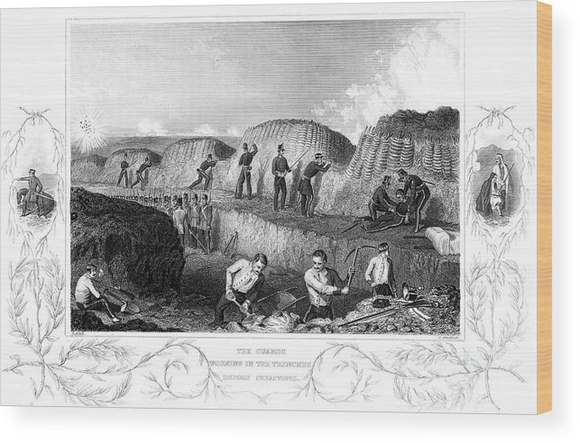 Working Wood Print featuring the drawing Siege Of Sebastopol, Crimean War by Print Collector