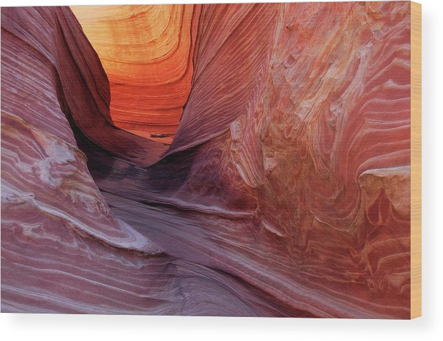 Geology Wood Print featuring the photograph Smooth Red Stone , Vermilion Cliffs by Raimund Linke