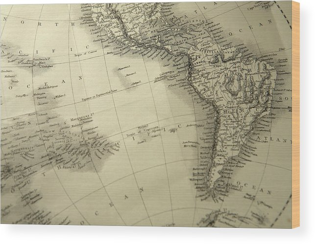 Amazon Rainforest Wood Print featuring the photograph South America by Belterz