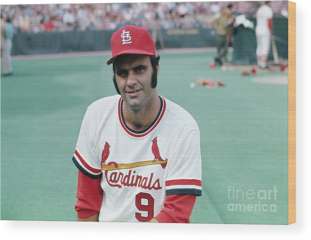 St. Louis Cardinals Wood Print featuring the photograph St. Louis Cardinals Player Joe Torre by Bettmann