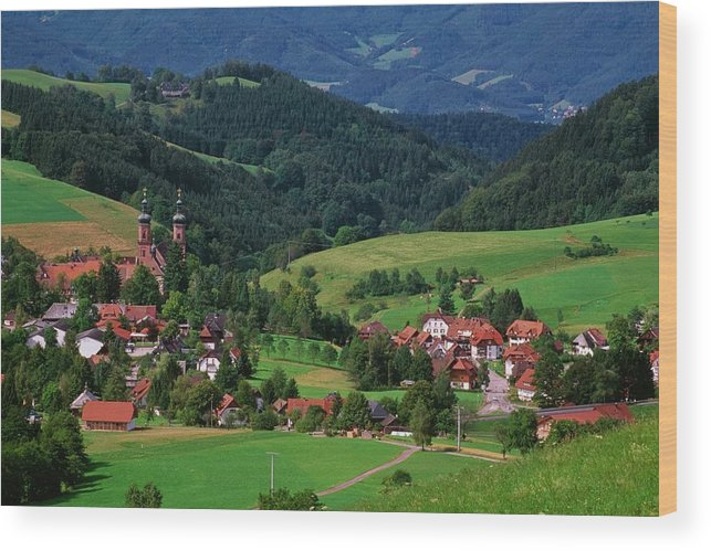 Architectural Feature Wood Print featuring the photograph St. Peters Abbey, Black Forest, Germany by Bilderbuch  / Design Pics