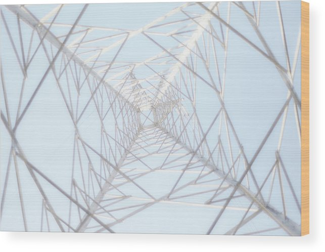 Radial Symmetry Wood Print featuring the photograph Steel Tower by Kaneko Ryo