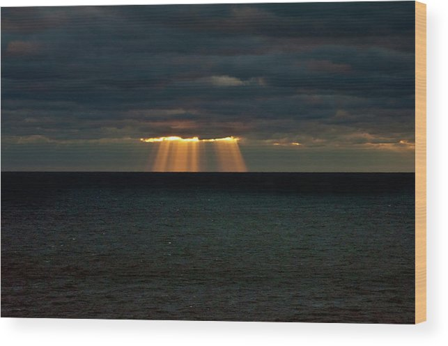 Lake Michigan Wood Print featuring the photograph Storm Brewing by By Ken Ilio