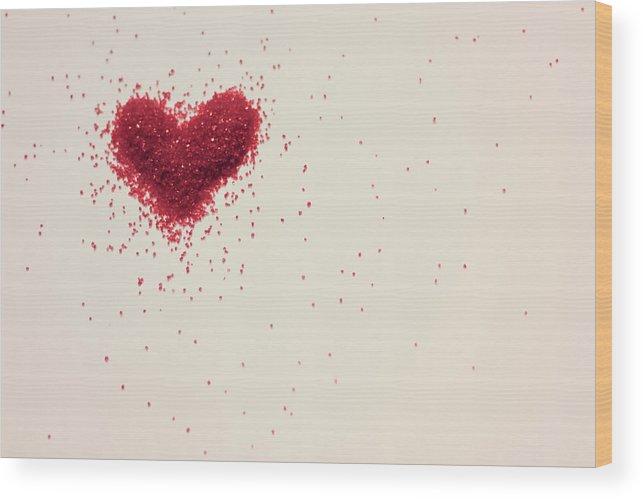 Art Wood Print featuring the photograph Sugar Heart by Amy Weekley