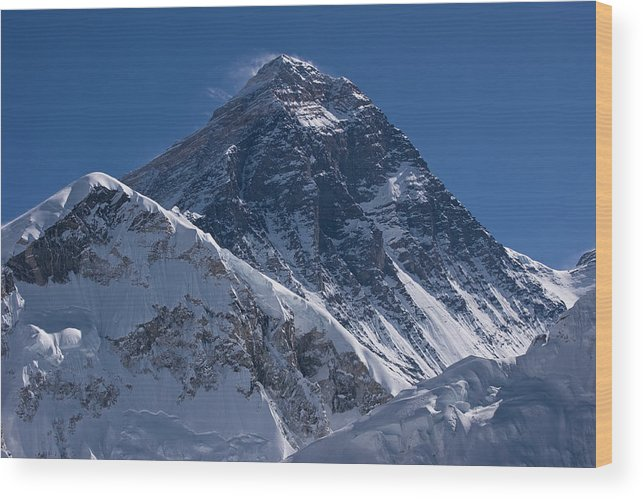 Scenics Wood Print featuring the photograph Summit Of Mt Everest8850m Great Details by Diamirstudio
