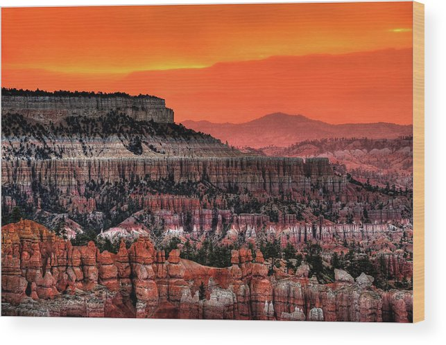 Scenics Wood Print featuring the photograph Sunrise At Bryce Canyon by Photography Aubrey Stoll