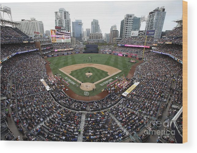 American League Baseball Wood Print featuring the photograph T-mobile Home Run Derby by Todd Warshaw
