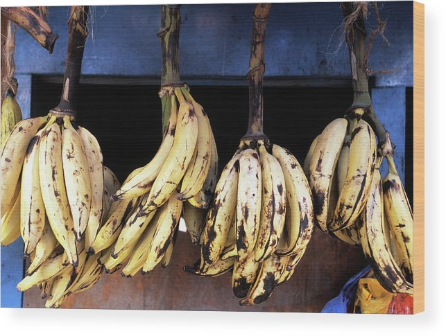 Hanging Wood Print featuring the photograph Tanzania, Zanzibar, Bananas For Sale In by John Seaton Callahan