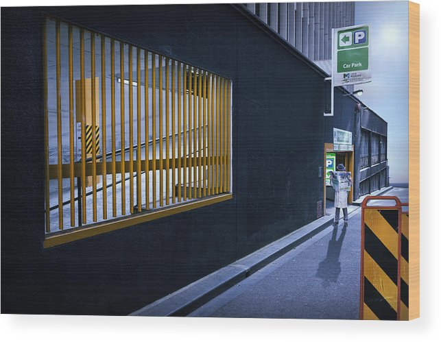 Melbourne Wood Print featuring the photograph The Car Park by Adrian Donoghue
