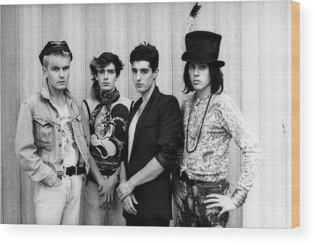 1980-1989 Wood Print featuring the photograph The Cult In London by Erica Echenberg