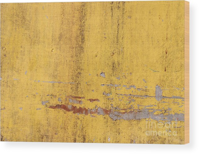 Template Wood Print featuring the digital art The Flaking Yellow Color With Scratched by Tcy26