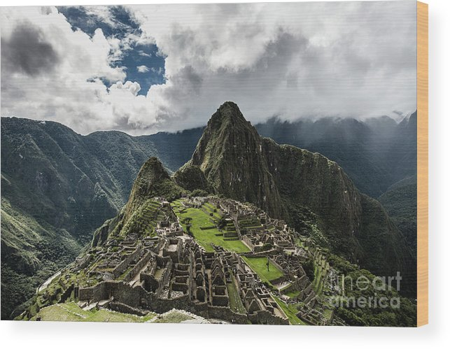 Scenics Wood Print featuring the photograph The Inca Trail, Machu Picchu, Peru by Kevin Huang