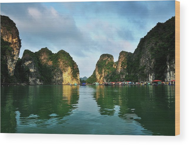 Scenics Wood Print featuring the photograph The Scenic Of Halong Bay by Photo By Sayid Budhi