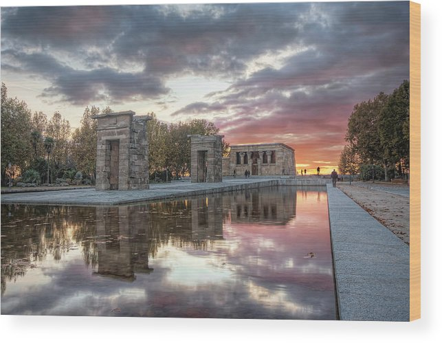 Arch Wood Print featuring the photograph The Twilight Of The Gods by Servalpe