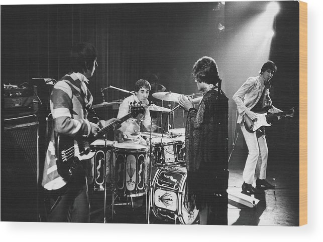 Rock Music Wood Print featuring the photograph The Who At The Fillmore East by Fred W. McDarrah