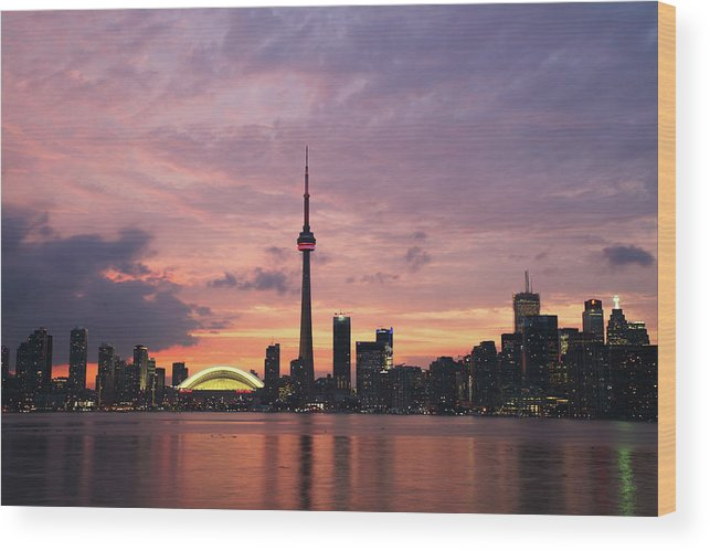 Lake Ontario Wood Print featuring the photograph Toronto by Js`s Favorite Things