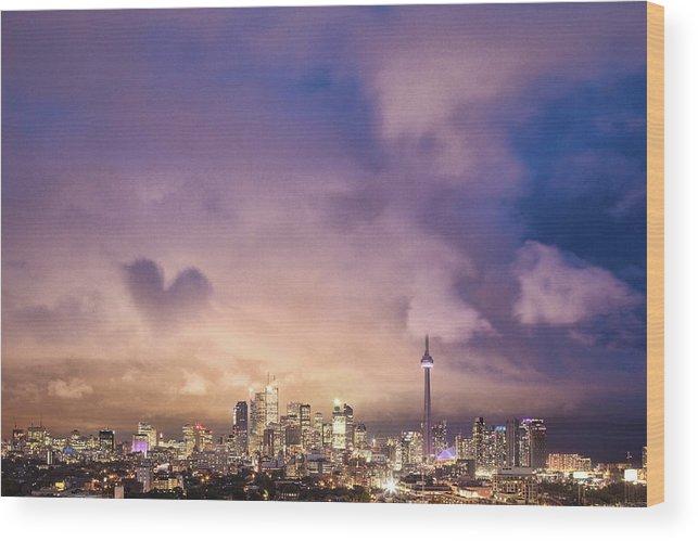 Toronto Wood Print featuring the photograph Toronto Love by Richard Gottardo - Info@richardgottardo.com