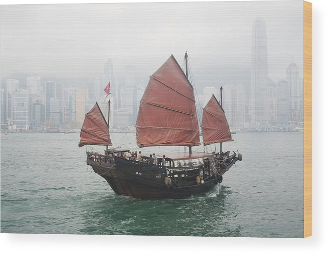 Outdoors Wood Print featuring the photograph Tourist Junk On Cruise by Romana Chapman