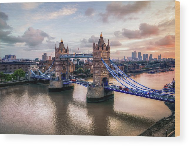England Wood Print featuring the photograph Tower Bridge Taken From City Hall by Joe Daniel Price