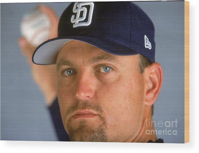 Peoria Sports Complex Wood Print featuring the photograph Trevor Hoffman 51 by Brian Bahr