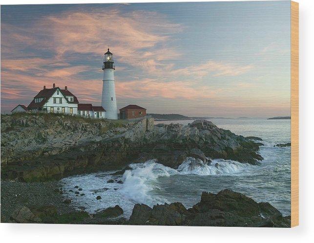 Scenics Wood Print featuring the photograph Usa, Maine, Cape Elizabeth, Portland by Visionsofamerica/joe Sohm
