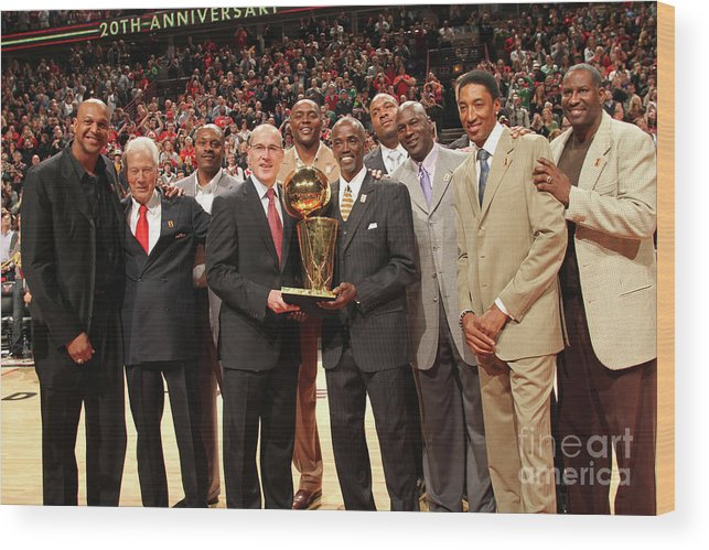 Event Wood Print featuring the photograph Utah Jazz V Chicago Bulls by Ray Amati