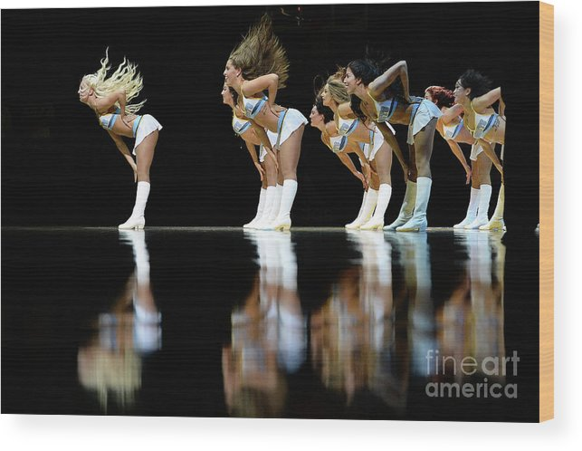 Nba Pro Basketball Wood Print featuring the photograph Utah Jazz V Denver Nuggets by Bart Young
