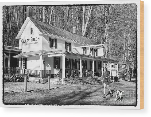 Valley Green Inn Wood Print featuring the photograph Valley Green Inn by Jack Paolini