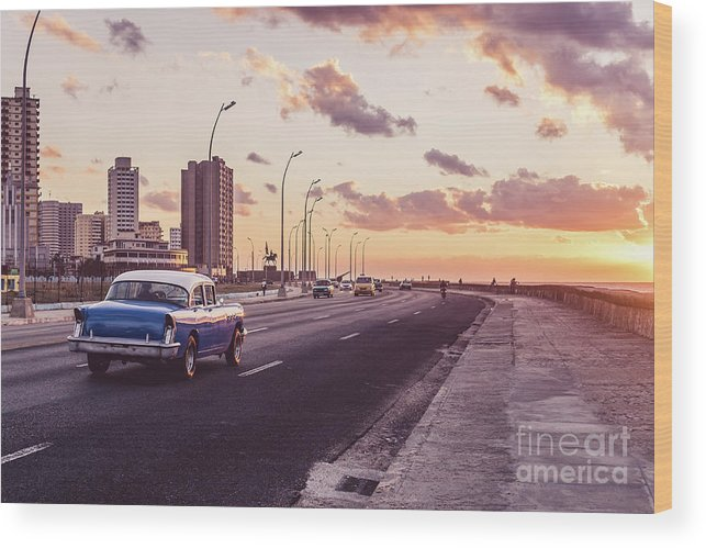 Latin America Wood Print featuring the photograph Vehicles On Road Against Sky by Sven Hartmann / Eyeem